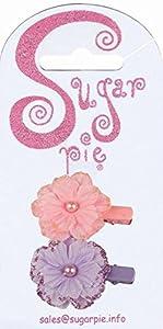 Sugar Pie S01C100 - Pinza para el Pelo (diseño de Flores, Purpurina y Perlas