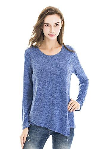 bearsland mujeres de otoño de maternidad de manga larga para lactancia y camiseta para lactancia Azul azul celeste Medium