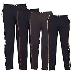 TeesTadka Mens Knitted Trackpants Cum Pyjama Combo Offers for Men Value Pack of 4 - Multi Coloured_Size Large