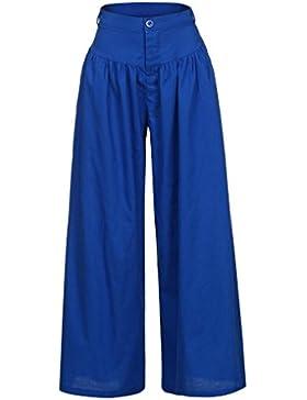 Cinnamou Pantalones Largos de Las Mujeres,Talla Grande Pantalones Anchos de Las piernas amplias Pantalones Fiesta...