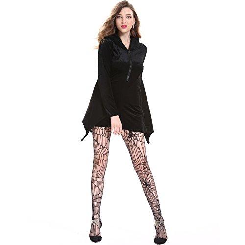 Halloween Weibliche Batman-Kostüm Cosplay Masquerade Vampir Stage Performance-Kostüm,Black,XL
