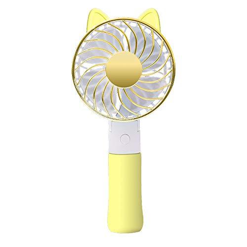 CAOQAO Ventilatore auricolare USB ricaricabile con piedistallo per volpe, Disponibile in quattro colori, 18,8 * 9 * 4 cm, Vento potente, Ventola di raffreddamento sicura