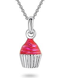 Rafaela Donata - Collier avec pendentif muffin collier maille forçat - Argent sterling 925 - Bijoux pour enfants, bijoux en argent - 60911023