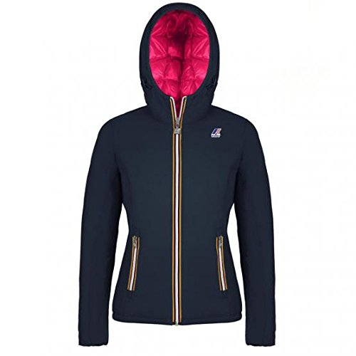 K-WAY, Lily Thermo Plus Double, Giacca reversibile, bambina, Autunno/inverno (6Y, 956 Blue Depht- Magenta)