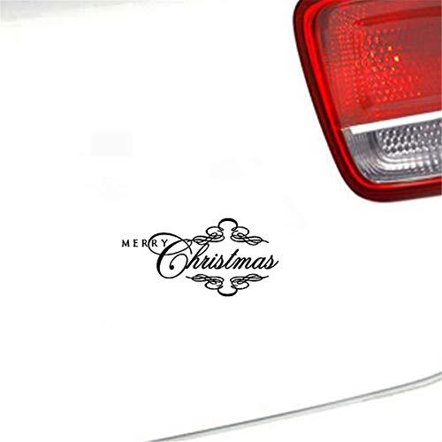 18,3 Cm x 9,1 Cm Frohe Weihnachten Schriftart Kreatives Design Auto Aufkleber Aufkleber Für Auto Laptop Fenster Aufkleber
