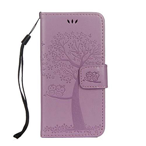 DENDICO Coque iPhone 6 Plus/iPhone 6s Plus, Coque en Cuir Magnétique Clip Portable Étui Housse Portefeuille avec Slots de Cartes pour Apple iPhone 6 Plus/iPhone 6s Plus - Violet