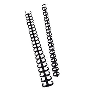 GBC Zip Comb Binding Spines, 5/16 Inch, Black, 25 Spines (15008) by ACCO Brands