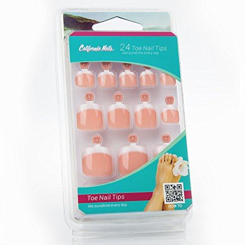 toe-nail-tips-kunstliche-fussnagel-zum-aufkleben-im-french-nails-peach-look