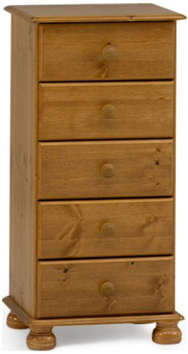 Steens Richmond Pine Narrow Chest of Drawers Brown