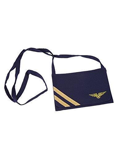 (Stewardess-Tasche, blau)