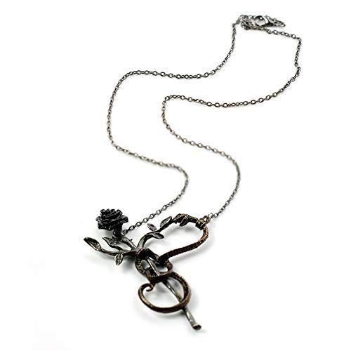 DADATU Halsketten für Herren Giftige Schlange Mit