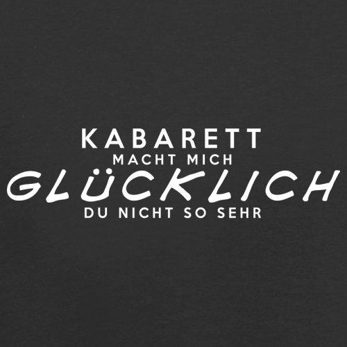 Kabarett macht mich glücklich - Unisex Pullover/Sweatshirt - 8 Farben Schwarz