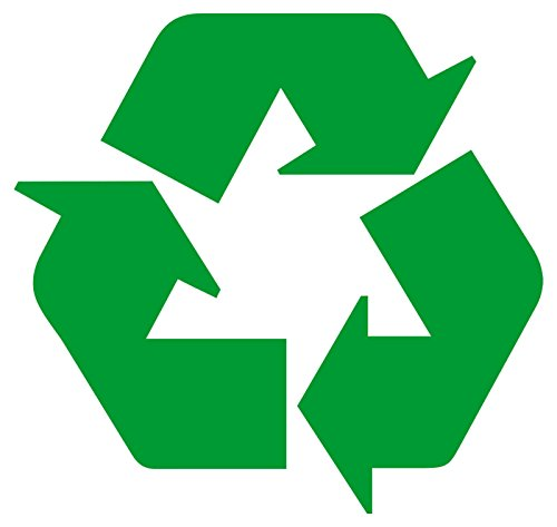 2x Logo de reciclaje pegatinas