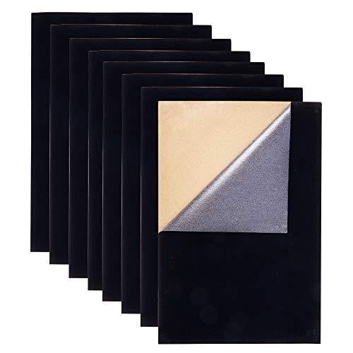 BENECREAT 20PCS Velvet (Black) Stoff Klebrige Rückseite Klebstoff A4 Blatt (21 x 30 cm), selbstklebend, langlebig und wasserdicht, vielseitig verwendbar, ideal für Kunst und Handwerk -
