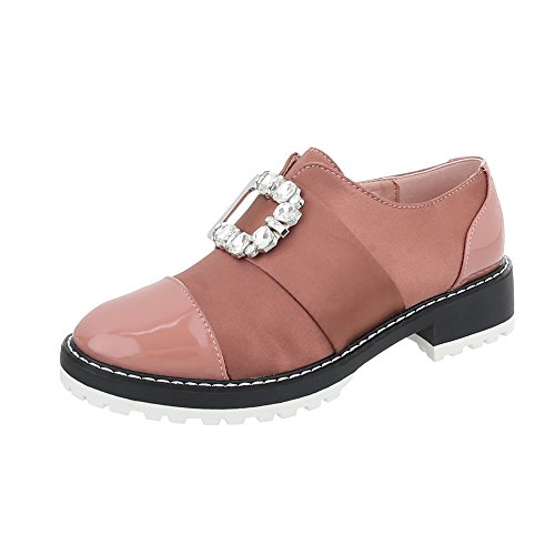 Chaussures femme Mocassins Bloc Slippers Ital-Design Rose