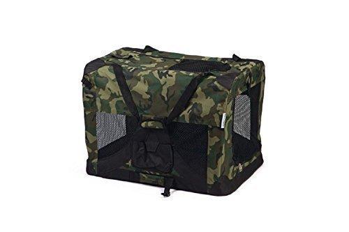 XXL Hunde Transporttasche Gitterbox klappbare Transportbox 91x63x63 camouflage