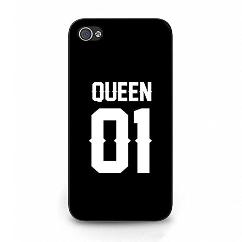 Boyfriend Girlfriend Lovers Iphone 4/4s Case,Luxury Perfect King Queen Couple Phone Case Cover for Iphone 4/4s Best Friends Fashonable Color094d