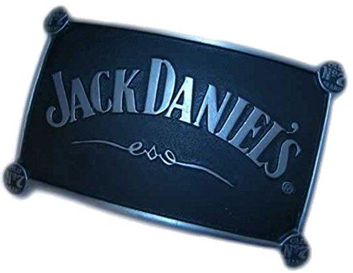BUCKLEBOX JACK DANIEL'S FOUR OLD NO 7'S Gürtelschnalle mit Präsentierständer - Offiziell lizenziertr -