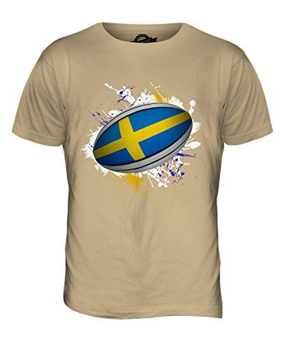 CandyMix Schweden Rugby Ball Herren T Shirt Sand