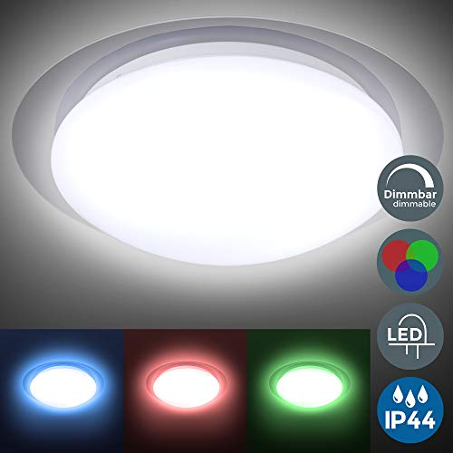 Plafón LED regulable I Lámpara techo LED multicolor