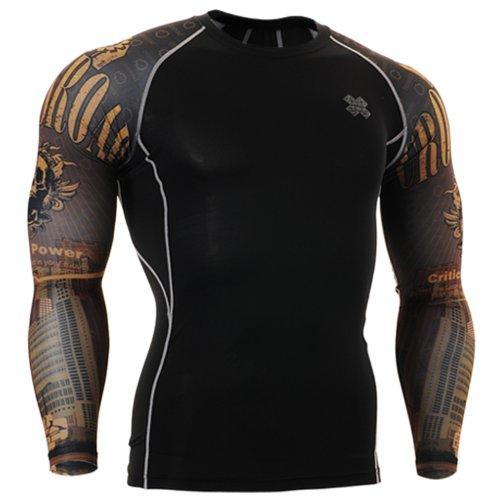Fixgear Sports Kompression Performance Funktionsunterwaesche Shirt Herren Damen Langarm M