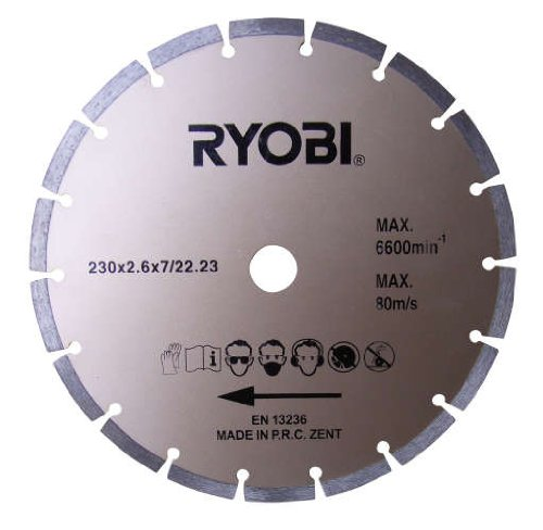RYOBI - HOJA CIRCULAR DE DIAMANTE (230 MM  COMPATIBLE CON EAG2000RS)