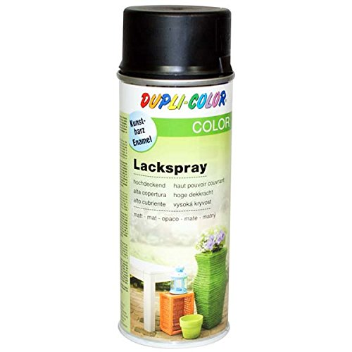 Dupli-Color 467592 Lackspray tiefschwarz matt 400 ml -