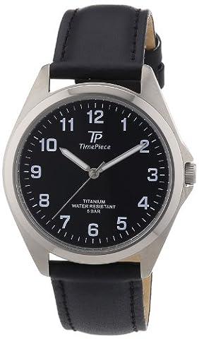 Time Piece Herren-Armbanduhr XL Titan Lederband Analog Quarz Leder TPGT-50218-22L