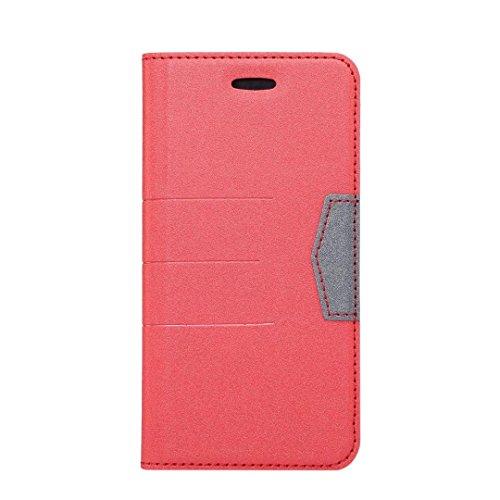 Gemischte Farben glänzende funkelt Muster Magnetische Verschluss PU-lederne Fall-Abdeckung mit Kickstand u. Einbauschlitz für iPhone X ( Color : Darkblue ) Red