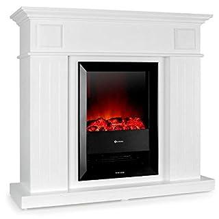 Klarstein Chamonix • elektrischer Kamin • E-Kamin • Kaminofen • Flammensimulation • 1000 W oder 2000 W Leistung • geräuscharm • nostalgisches Design • weiß