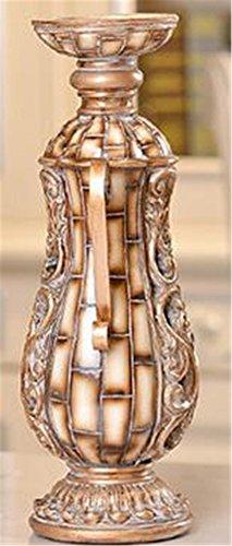 Resina stile europeo Candeliere Retro stile antico Splendida supporto di candela del modello di classe per la casa