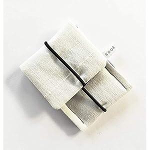 Schlichtes kleines Etui mit Gummiband/Portemonnaie/ Kopfhörertasche/Visitenkarten Tasche/Geldbörse/ Wallet/Mehrzweck Mini Tasche/Kleines Geschenk. Schwarz Weiß
