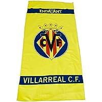 Villarreal CF Toavil Toalla, Amarillo/Azul, Talla Única