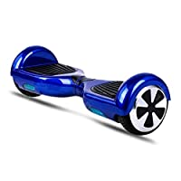 EWORLD Two Wheels Smart Self Balancing Electric Unicycle Scooter Safe Smart Scooter Two Wheel Self Balancing Mover Slide Electric Scooter Rider Ride Hover Board Skateboard Skater - Blue