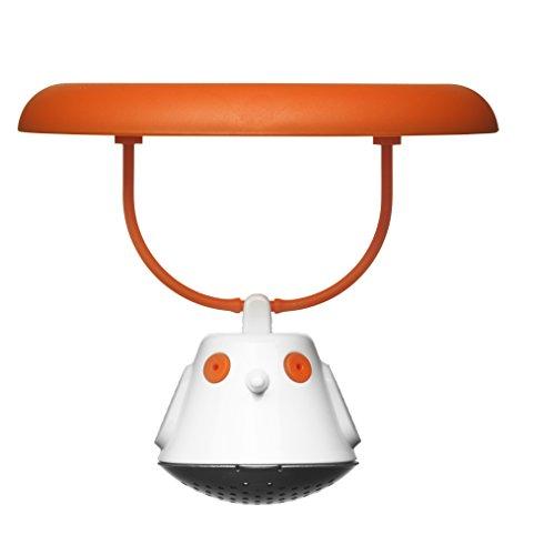 QDO 567395 Birdie Couvercle-Infuseur à Thé Plastique/Acier Inox Orange