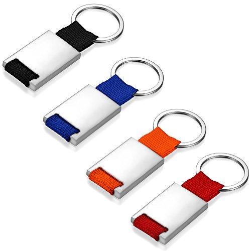 JewelryWe Schmuck Schlüsselanhänger Schlüsselring glänzend poliert, schwarz blau orange rot