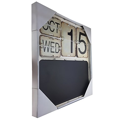 Calendario Perpetuo Da Parete.Calendario Calendario Perpetuo In Metallo E Ferro Da Parete In Pvc Flip Afflitto Per Arredamento Per La Casa 15 7 X15 7 X0 7