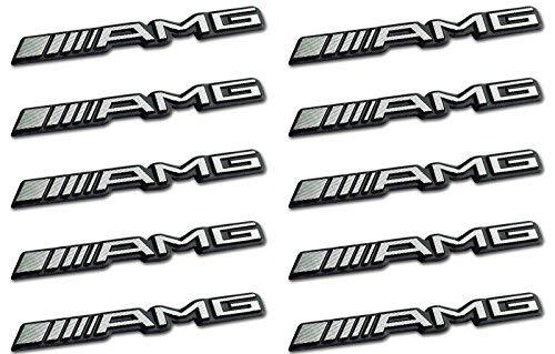 10 x AMG Logo Emblème Sticker Mercedes CL CLS E S SL SLK ml GL B C 63 gle