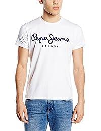 T-SHIRT Pepe Jeans HOMME COL V BLANC ET NOIR Pm500373