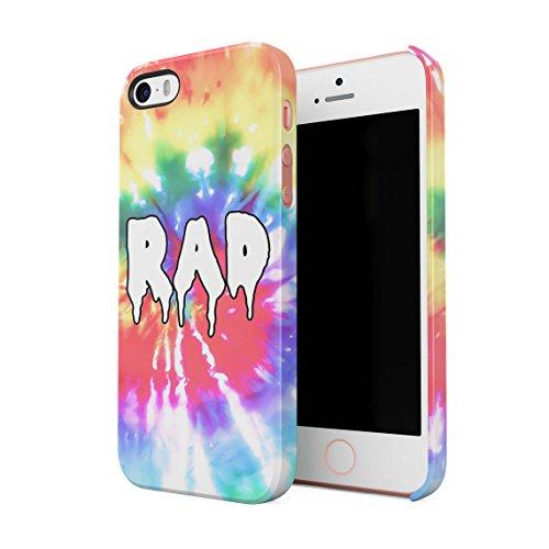 Good Vibes Only Trippy Tie Dye Dünne Rückschale aus Hartplastik für iPhone 5 & iPhone 5s & iPhone SE Handy Hülle Schutzhülle Slim Fit Case cover Melting RAD