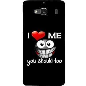 Casotec Quotes Design Hard Back Case Cover for Xiaomi Redmi 2 Prime