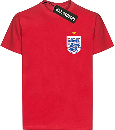 All Online Prints Football World Cup England UK 2018 Unisex t Shirt Tshirt top Cotton wc03t