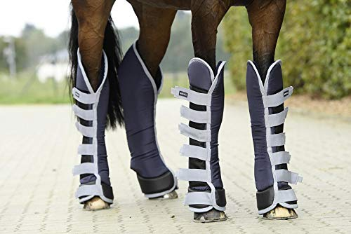 Busse Transport-Gamaschen TRAVEL PRO, Warmblut, Navy (grau)
