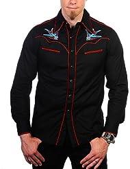 Swallow Banned–Camisa Camiseta Black de red