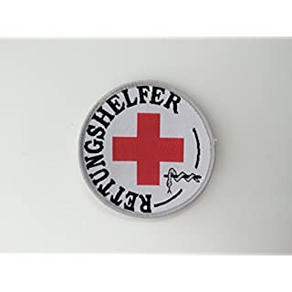 Rettungshelfer-Abzeichen (Durchmesser ca 8,5cm), zum Aufkletten