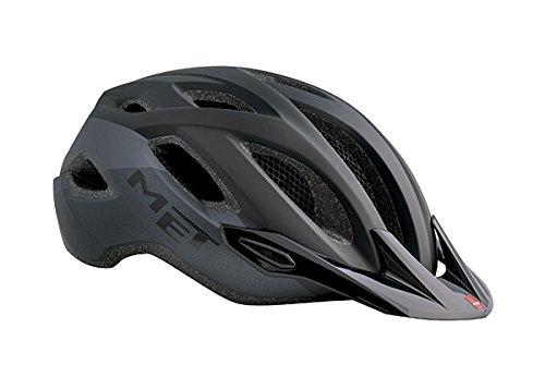 MET Crossover Casco de Ciclismo, Unisex Adulto, Negro Mate, 52-59 cm