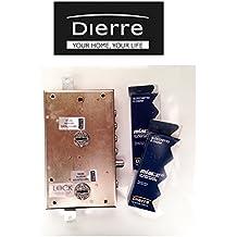 Cerraduras Atra dierre para puertas blindadas de sobreponer con doble cerradura de seguridad, entrada 70mm ser7161derecha
