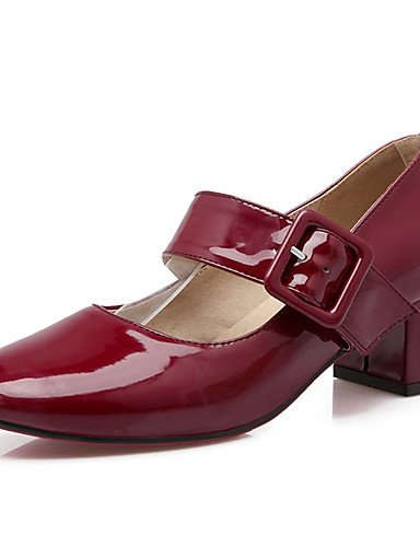 GGX/ talon chunky chaussures brevet talons / talons bout rond partie des femmes& soirée / robe / casual noir / rouge / gris