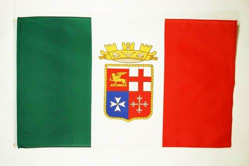 AZ FLAG Bandiera Italia Marina Militare 90x60cm - Bandiera Italiana NAVALE 60 x 90 cm