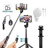 Trépied à Selfie Bluetooth, Mini Perche à Selfie Extensible sans Fil avec télécommande et Support de téléphone pour iPhone X/8/8 Plus/7/7 Plus/6/6S Plus, Samsung S9/S9 Plus/S8, Smartphone Android